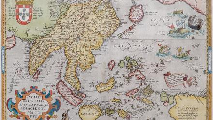 Ortelius map of the Indo-Pacific 'Indiae Orientalis' c. 1571, from Professor Medcalf's private collection.