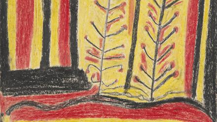 'A landscape of the desert', by Abe Jangala, from The Warlpiri Drawings 1953-54, Meggitt Collection, Australian Institute of Aboriginal and Torres Strait Islander Studies.