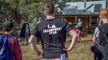 Encampment is an annual camp for young lesbian, gay, bisexual, transgender and queer (LGBTQ) people. Photo: supplied.