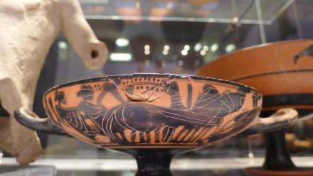 Roman pottery at the ANU Classics Museum. Photo by Stuart Hay.