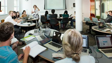 Students in class at The Australian National University. Photo by Stuart Hay.