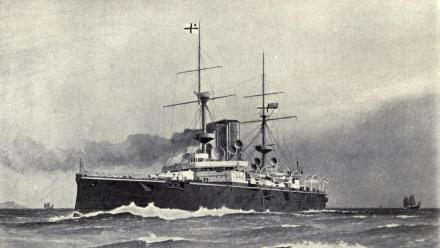 The HMS Centurian, pictured in 1892.