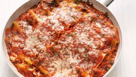 Skillet lasagne is a quick and easy recipe for all students.
