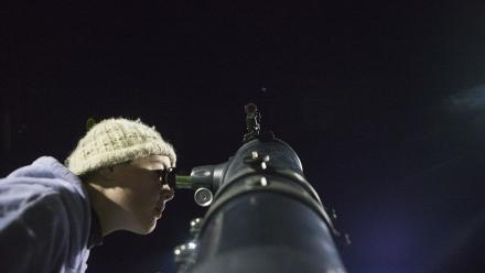 Stargazing at Fellows Oval at ANU. Photo by Lannon Harley.