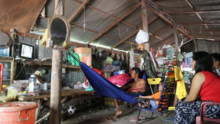 Cambodian locals in an Okra-powered community enjoy watching TV – without interruptions from unreliable power.