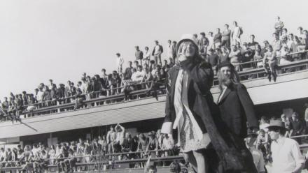 Students on the terraces of the former ANU Student Union Building in the late 1960s. Photo courtesy of ANU Heritage.