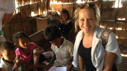 ANU student Rebecca Watts worked with communities in Cambodia.