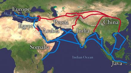 The two main Silk Road routes traversed much of Asia and the Middle East. Photo: Flikr.