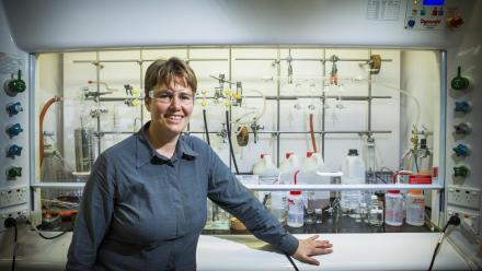 Professor Michelle Coote, from the ANU Research School of Chemistry. Photo by Stuart Hay.