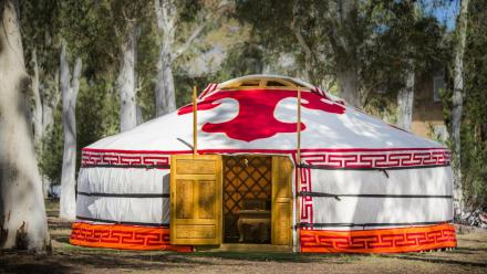 The Mongolian Ger at ANU. Photo by Stuart Hay.
