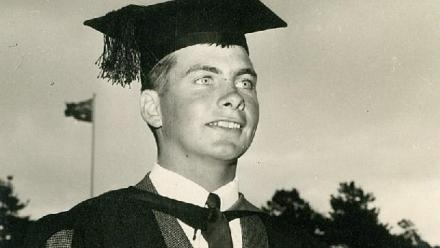 Tim Overall graduating from ANU in 1969.