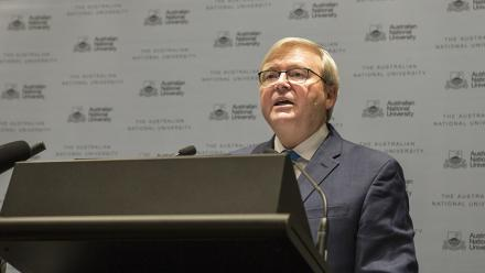 Former Prime Minister Kevin Rudd. Photo by Stuart Hay.