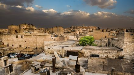 The Citadel and city, Aleppo. Photo by Stuart Hay.