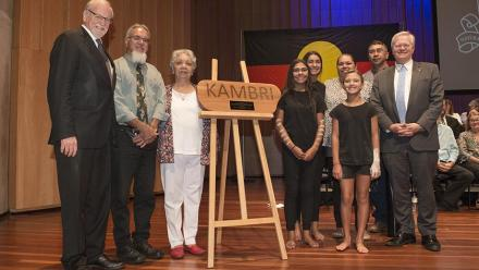 Gifting of the name Kambri to ANU. Photo by Lannon Harley.