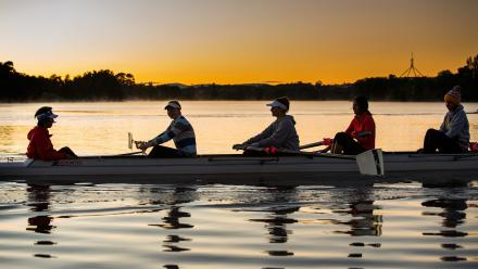 The ANU Boat Club on Lake Burley Griffin. Photo by Stuart Hay.