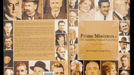 The book Prime Ministers at The Australian National University was published with the help of archived items. Photo by Stuart Hay.