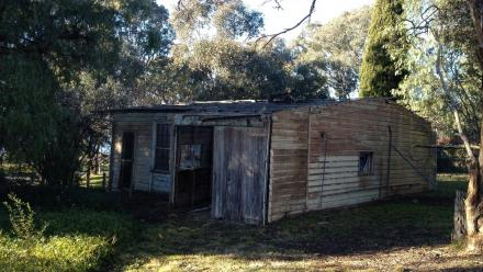 The derelict Buggy Shed before renovations in 2012.