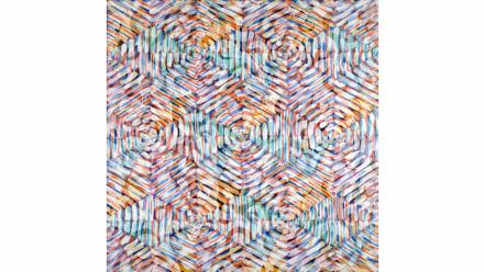 Lattice #11, Liz Coats, 1996, acrylic on canvas, courtesy the artist and Utopia Art Sydney.