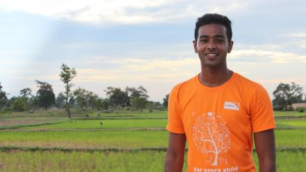 Jeeven travelled to Cambodia as part of a World Vision Australia youth group trip.