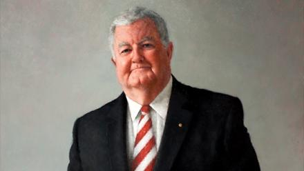 Professor Ian Chubb, Jude Rae, 2011, oil on canvas, ANU Art Collection.
