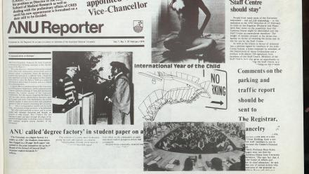 The tenth anniversary of ANU Reporter in 1980.