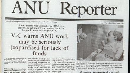 ANU Vice-Chancellor Professor Anthony Low warned about a lack of funds in November 1980.