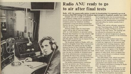 The launch of Radio ANU, now known as Woroni Radio, in 1982.