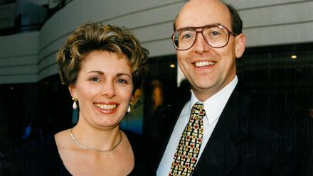 Jenny and Barry at the opening of James Court, November 1994