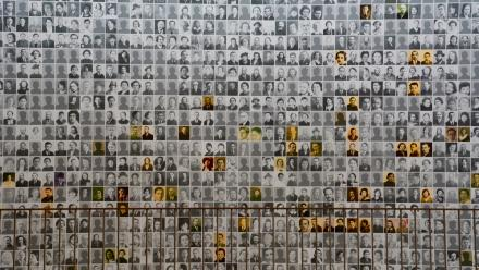 A memorial at the Holocaust and Human Rights Museum Kazerne Dossin in Mechelen, Belgium. Photo by Sulamith Graefenstein.