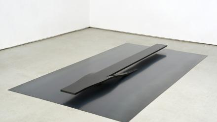 Exit and entry ramp, by Kensuke Todo 2010, mild steel, 87 x 120.4 x 240 cm, Courtesy the artist and King Street Gallery on Williams. Photo by Stuart Hay.
