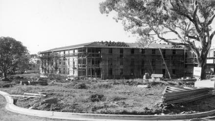 The HC Coombs Building under construction in the early 1960s.