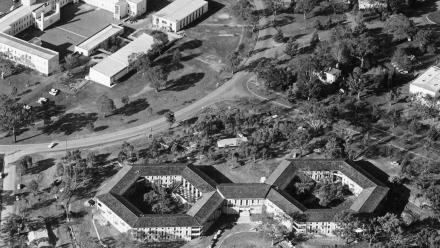 The HC Coombs Building next to the now ANU School of Art Building in 1965.