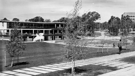 The then ANU Student Union building in March 1965. Photo: ANU Heritage.