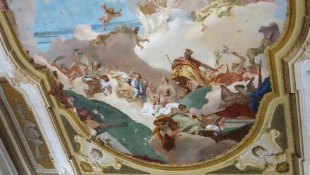 The ceiling with Medallions painted by Veronese in the Biblioteca Sansoviniano.