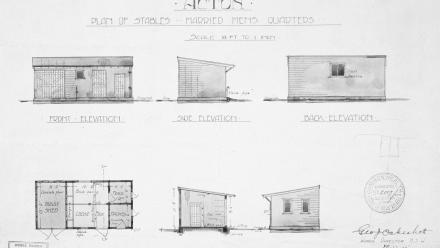 The original 1912 plans for the Buggy Shed.