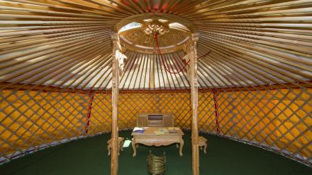 Inside the Mongolian Ger at ANU. Photo by Stuart Hay.