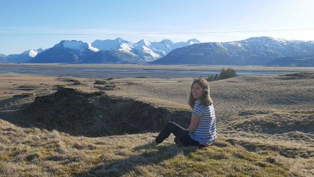 ANU student Caity Price in Iceland.
