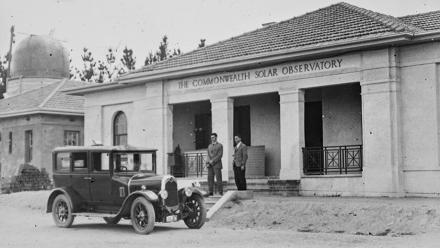 The Commonwealth Solar Observatory Building, 1928. Photo: Duffield Glass Plate Collection, Mount Stromlo Observatory Archives.