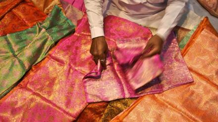 Colourful Indian saris. Photo courtesy Flikr.