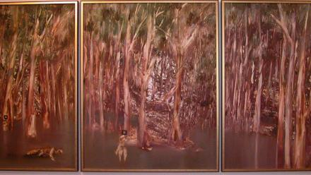 Sidney Nolan's Riverbend painting.