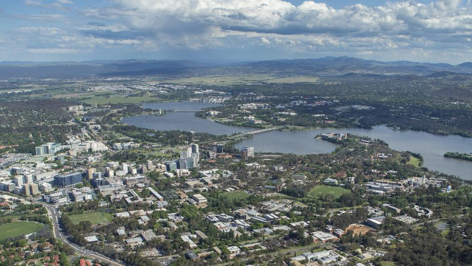 The ANU campus is at the heart of a rapidly changing Canberra. Photo by Stuart Hay.