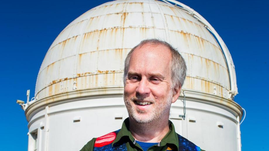Dr Paul Francis at Mount Stromlo Observatory. Photo by Stuart Hay.
