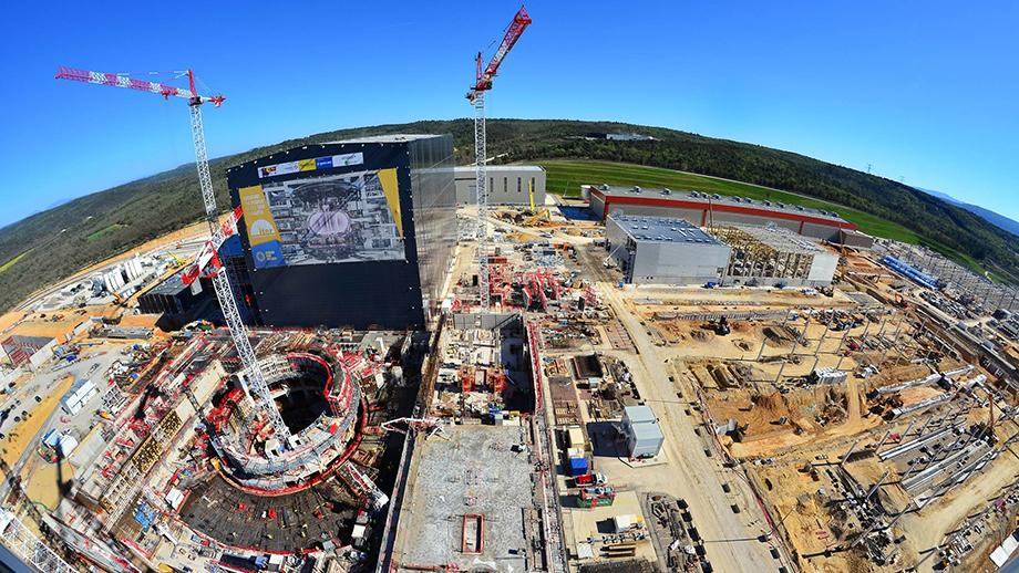 In southern France, 35 nations are collaborating to build the world's largest tokamak, a magnetic fusion device that has been designed to prove the feasibility of fusion as a large-scale and carbon-free source of energy based on the same principle that powers our Sun and stars. Photo: ITER Organization.