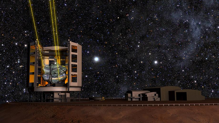 Artist's impression of the Giant Magellan Telescope. Image from Giant Magellan Telescope Organization.