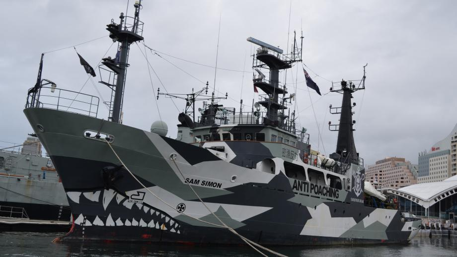 Sam Vincent spent time on the Sea Shepherd researching for his book.