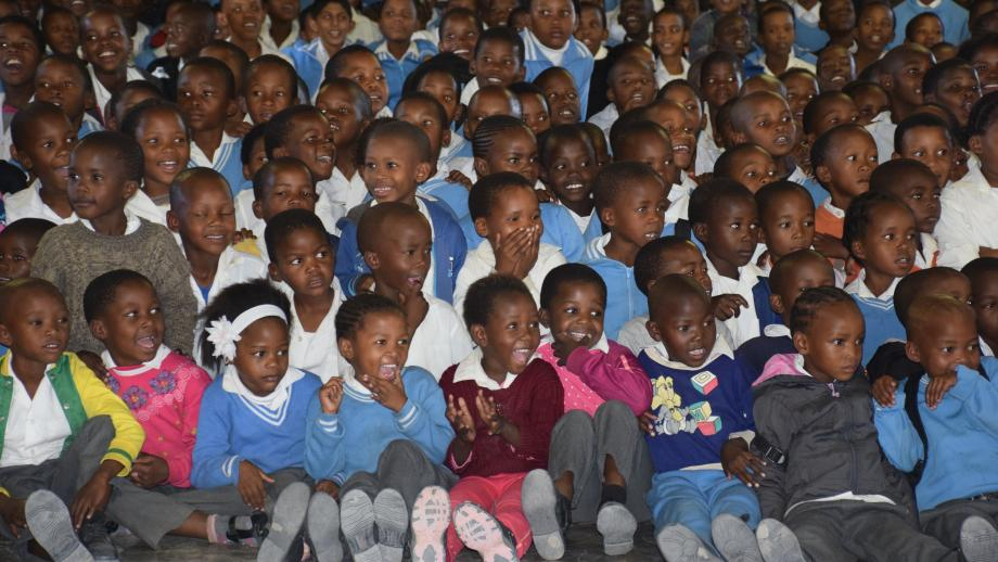 The wall of children in eastern Botswana.