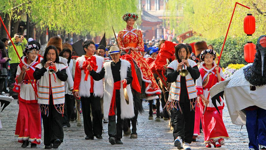 A Naxi wedding. Photo courtesy of Lijiang Heritage Bureau.