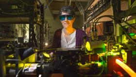 ACT Scientist of the Year Dr Rose Ahlefeldt at work in the lab. Photo by Lannon Harley.