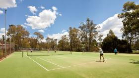 The Tennis Court at South Oval, ANU. Photo by Stuart Hay.