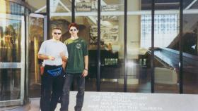 Danny Bishop and Chris Duffield in the 1990s.